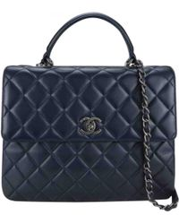 Chanel - Business Affinity Navy Leather Handbag - Lyst