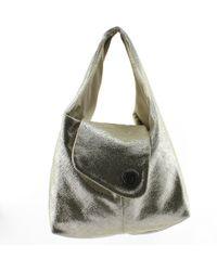 Gucci. Silver Leather Indy Hobo. £681. Rue La La · Chanel - Pre-owned Silver  Cloth Handbags - Lyst 9627b85844eb4