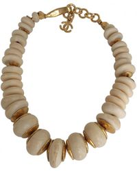 Chanel - Pre-owned Vintage Beige Other Necklace - Lyst