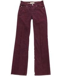 Stella McCartney - Pre-owned Purple Cotton Jeans - Lyst