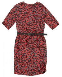 Louis Vuitton - Red Viscose Dress - Lyst