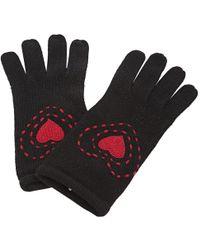 Moschino - Black Wool Gloves - Lyst
