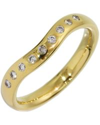 05527459e Tiffany & Co. 18k Yellow Gold & Diamond 'x' Band Ring in Yellow - Lyst