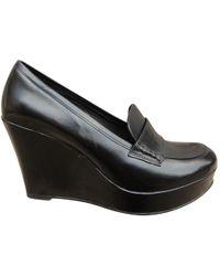 Claudie Pierlot - Black Leather Flats - Lyst