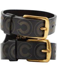 Chanel - Vintage Black Leather Bracelets - Lyst