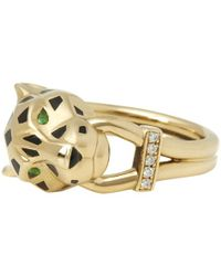Cartier - Panthère Yellow Yellow Gold Ring - Lyst