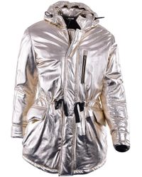 Moschino - Pre-owned Gold Leather Coats - Lyst