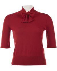 Ralph Lauren Collection Red Cashmere Knitwear