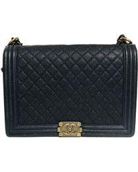 Chanel - Boy Blue Exotic Leather Handbag - Lyst