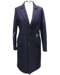Zadig & Voltaire - Navy Wool Coat - Lyst
