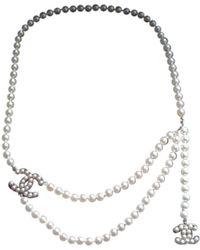 Chanel - Pearls Belt - Lyst