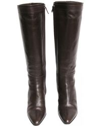 Hermès - Pre-owned Brown Leather Boots - Lyst
