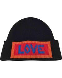 62d14e6d655cd Fendi - Black Wool Hats   Pull On Hats - Lyst