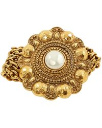 Chanel - Gold Metal Bracelet - Lyst