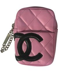 Chanel - Pre-owned Cambon Cloth Clutch Bag - Lyst