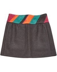 Louis Vuitton - Cashmere Mini Skirt - Lyst