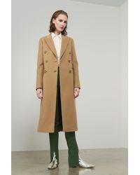 Victoria Beckham - Tailored Slim Coat - Lyst