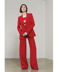 Victoria Beckham - High Waisted Wide Leg Trouser - Lyst