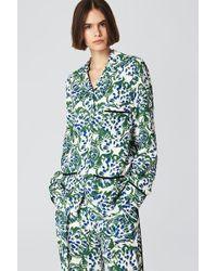 Victoria Beckham - Floral Print Pajama Shirt - Lyst
