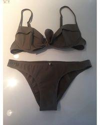 Nina Ricci Maillot de bain deux-pièces polyester beige - Neutre