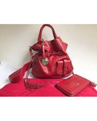 Rouge Coloris Bandoulière À Sac Row Lyst The Top Cuir 14 En Handle WIHD9E2