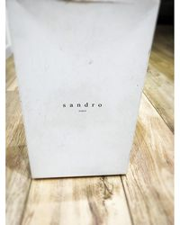 Sandro Baskets cuir blanc