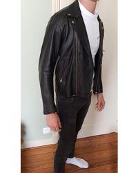 Sandro Blouson en cuir cuir noir