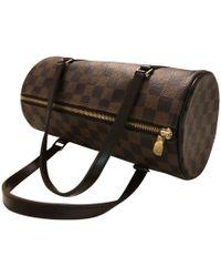 Louis Vuitton Sac à main en cuir cuir marron
