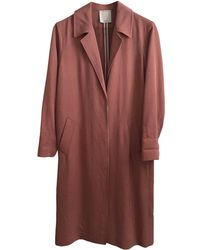 Sandro Imperméable, trench synthétique rose
