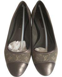 Louis Vuitton - Ballerines toile argent - Lyst