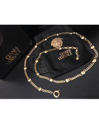 Versace - Collier plaqué or autre - Lyst