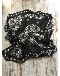 The Kooples - Foulard coton noir - Lyst