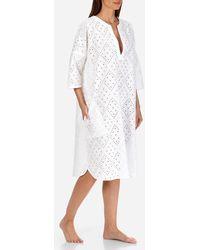 Vilebrequin - Women Short Cotton Tunic Dress Eyelet Embroidery - Lyst