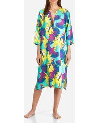 Vilebrequin - Women Long Twill Silk Tunic Dress Birds Of Paradise - Lyst