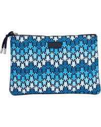 Vilebrequin - Zipped Beach Pouch Herringbones Turtles - Lyst