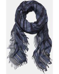 Vince - Melange Stripe Cotton Scarf - Lyst