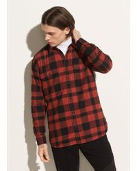 edf82052 Versace Buffalo Check Flannel Shirt in Black for Men - Lyst