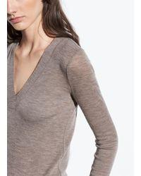 Vince - Long Sleeve Wool V-neck - Lyst