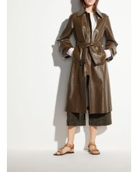 Vince - Double Face Leather Trench - Lyst