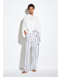 Vince Dobby Stripe Belted Pant - White