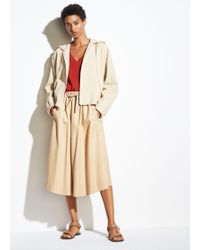 Vince Panelled Leather Skirt - Natural