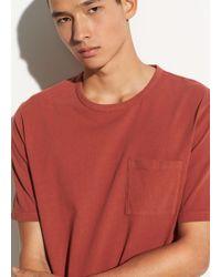 Vince Garment Dye Single Pocket Short Sleeve Crew