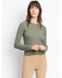 Vince - Cashmere Ribbed Cropped Crew - Lyst