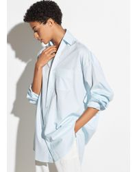Vince - Oversized Classic Cotton Shirt - Lyst