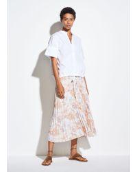 Vince Marine Garden Pleated Skirt - Multicolour
