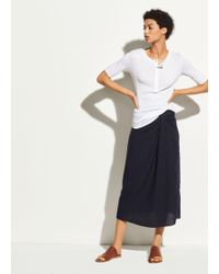 Vince - Elbow Sleeve Cotton Henley - Lyst