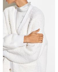 Vince - Exclusive / Teddy Button Cardigan - Lyst