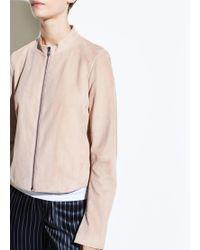 Vince - Suede Moto Jacket - Lyst
