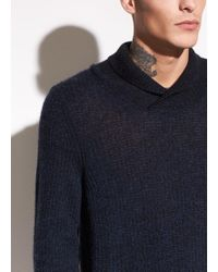 Vince - Thermal Cashmere Shawl Collar Pullover - Lyst