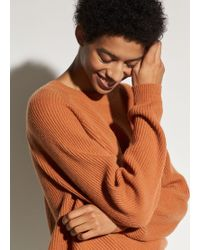 Vince - Diagonal Rib Wool And Cashmere Crew - Lyst